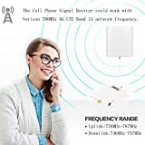 Cell Phone Signal Booster Verizon 4G LTE 700MHZ Band13 Mobile Phone Signal Booster Amplifier Repeater SHWCELL Including Inside and Outside Dual Panel Antennas Cable For Home Basement Office Use