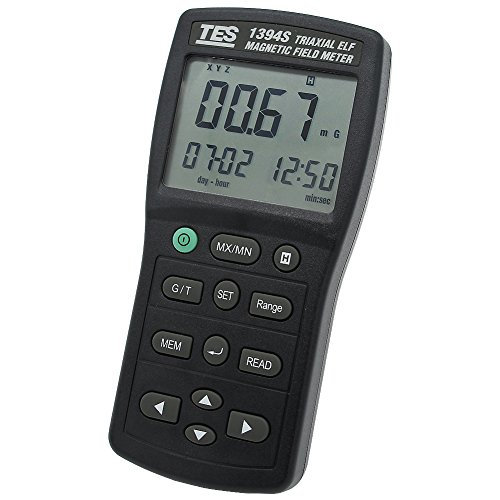 TES 1394S ElectroMagnetic Field Tester/Magnetic field gauss Meter/Electromagnetic Radiation Detector (Low frequency 30Hz ~ 2KHz) micro SD CARD ()