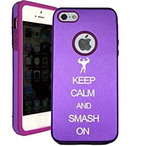 Keep Calm And Smash On iPhone 5 Case - Candy Case iPhone 5G Case - Candy Case - MetalTouch Purple Aluminium Shell With