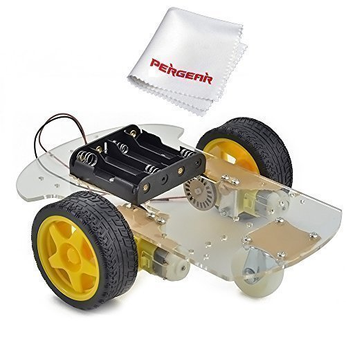 Emgreat® Motor Robot Car Chassis Kit with Speed Encoder wheels and Battery - Motor Car Slot
