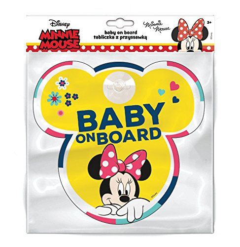 Disney Baby On Board Car Window Sign - Minnie Mouse