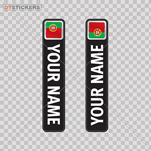 Decoration Vinyl Sticker Bicycle Mountain Bike Name Label Flag Portugal Decoration Motorbike relaxation racing nature victory (5 X 0,95 Inches) Fully Waterproof Printed vinyl sticker