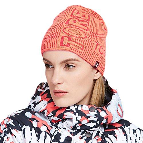Sombreros De Hombre Gorras De Esquí Sombrero De Bombardero De Cuero Ruso Gorros De Lana De Invierno Calor Exterior A Prueba De Viento Cómodo Orange/Red