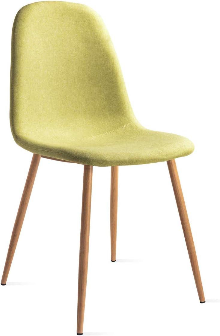 Mc Haus Elva pack 2 chaises salle a manger vert
