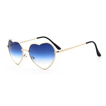 UniqueBella - Occhiali da sole da donna UV400Cuore # 1rosa, # 7, Taglia unica