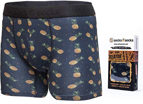 Mens Boxer Briefs-Premium Underwear for Men Pineapple Briefs-Gift Box-X-Large