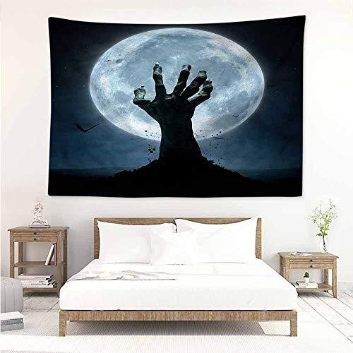 Sunnyhome DIY Tapestry,Halloween Zombie Grave,Home Decorations for Bedroom Dorm Decor,W63x47L -