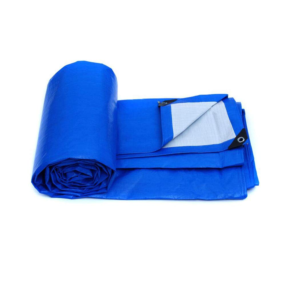 Zeltplanen CJC Plane 155g m² Farbe Farbe m² Blau PP PE Draussen Schutz Wasserdicht Camping (Farbe   T2, größe   12x8m) 75819a