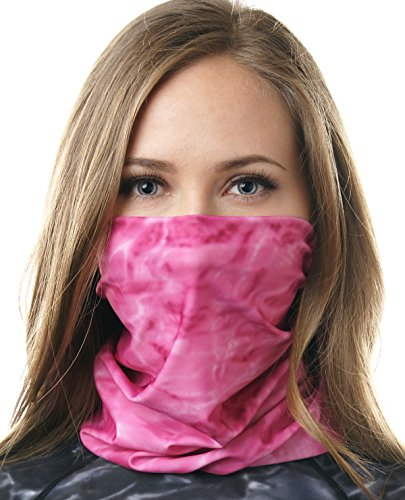 Sun Face Design - Aqua Design Women's Face Mask Scarf UPF 50+ Sun Protection Headwear Headband Hair Scrunchie Neck Gaiter Sizes XS - XL