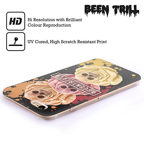 Official Been Trill Triple Rose Floral And Skulls Soft Gel Case for Apple iPhone 4 / 4S
