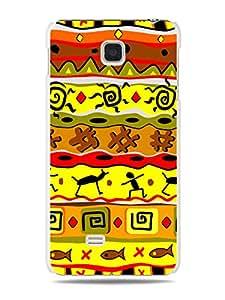 """GRÜV Premium Case - """"Vivid African Safari Pattern Tribal Art"""" Design - Best Quality Designer Print on White Hard Cover - for LG Optimus F5 P875"""
