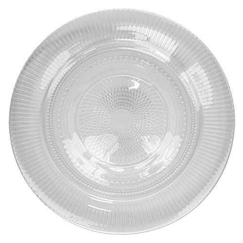 Arcoroc Louison Clear Glass Dinner Plate by Arc Cardinal - 10 1/2 Dia