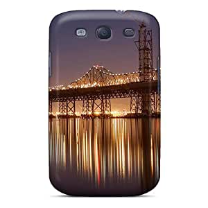 High-quality Durability Case For Galaxy S3(bridge At Night Landscape)