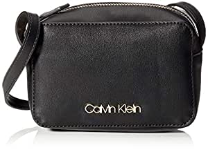 CK MUST F19 CAMERABAG Women's Cross-Body Bag, Black, 7x12x18 centimeters (B x H x T)