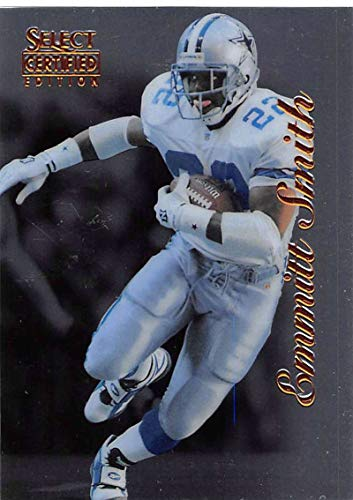 1996 Select Certified Football #27 Emmitt Smith Dallas Cowboys Official NFL Trading Card From Pinnacle
