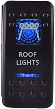 E Support 12v Auto Kfz Blau Led Lichtleiste Beleuchtet Wippenschalter Kippschalter Auto Armaturenbrett Schalter Roof Light Auto