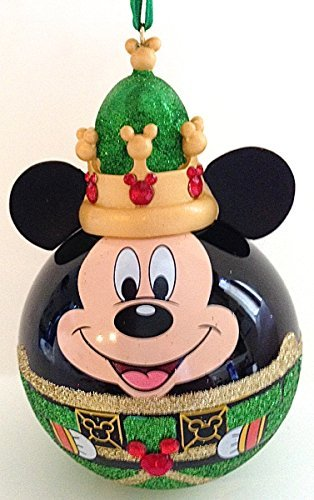 Disney Parks Mickey Mouse Nutcracker Green Crown Ornament NEW by Disney