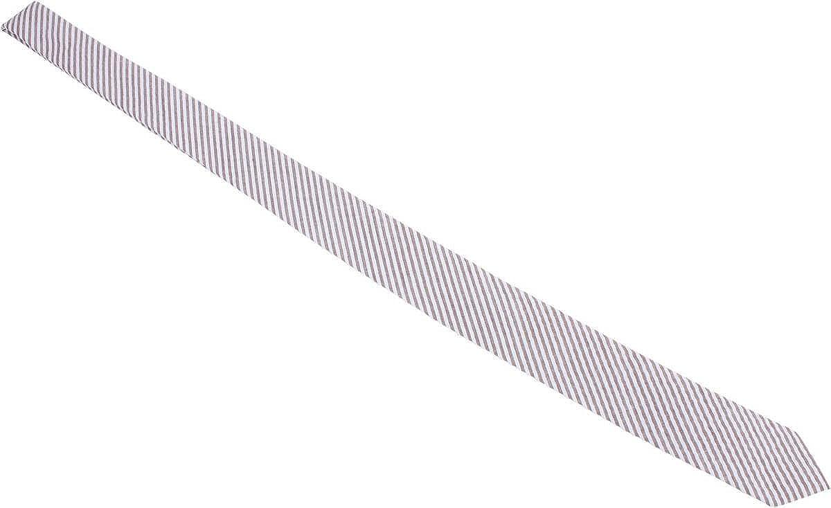 Knightsbridge Neckwear Mens Diagonal Striped Cotton Skinny Tie Brown//White