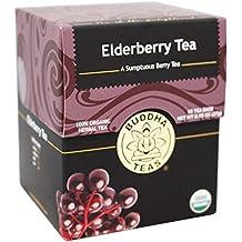 Organic Elderberry Tea - Kosher, Caffeine-Free, GMO-Free - 18 Bleach-Free Tea Bags