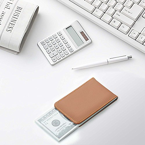 XeYOU Magnetic Money Clip - Genuine Leather Minimalist Money Clip- Mens Strong Magnet Wallet Thin Fasion Front Pocket Wallet
