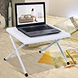 PLLP Table-Plastic Desktop Foldable Laptop Tables Bed Desk Simple Learning Table,C