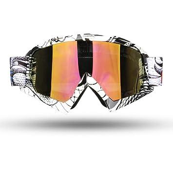 4b190d3334 Fodsport Gafas de moto Gafas crossed Gafas ciclismo Gafas Protección  Mascara para Moto Motocross Esqui Deporte Ajustable (Multicolor B):  Amazon.es: Juguetes ...