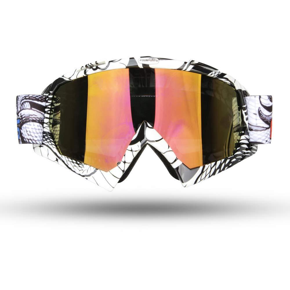 9ccaefc296 Fodsport Gafas de moto Gafas crossed Gafas ciclismo Gafas Protección  Mascara para Moto Motocross Esqui Deporte