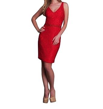 La_Marie Braut Rot Mini Spitze Cocktailkleider Abendkkleider ...