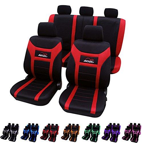 Auto Sitzbezug/Autositzbezüge/Schonbezug/Schonbezüge , Universal Schoner Sitzschutz , Stickerei Super Speed , Super Design , Schwarz/Rot 7259