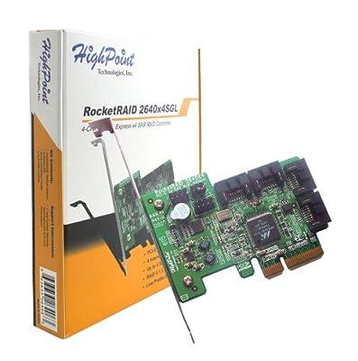 HighPoint RocketRAID 2640X4SGL 4-Channel PCI-Express x4 SAS 3Gb/s RAID Controller by HighPoint