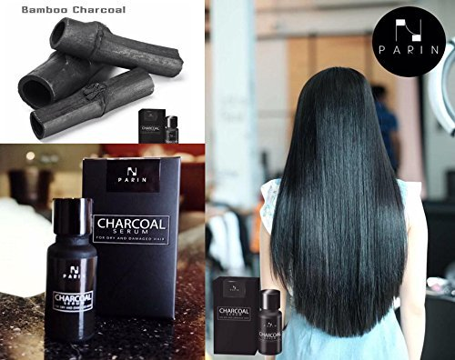 Carbón de bambú Parin Serum Cabello Tratamiento Suero 15 ml para reducir la pérdida de cabello & Split, pelo de seco y de daños por jawnoy: Amazon.es: Hogar