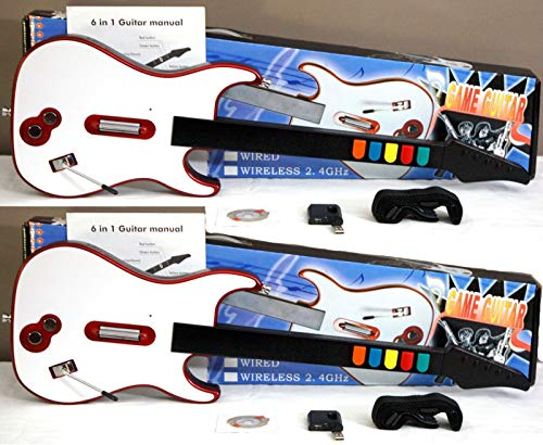 2 NEW WIRELESS Double Guitar Hero Game Controllers + NEW PS3 Band Hero Video Game Rock Band Music Bundle by Loot Hive (Image #2)