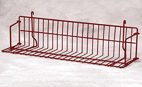 Count of 4 New Hammertone Finished Grid Standard Shelf 24'' Wide by Standard Shelf
