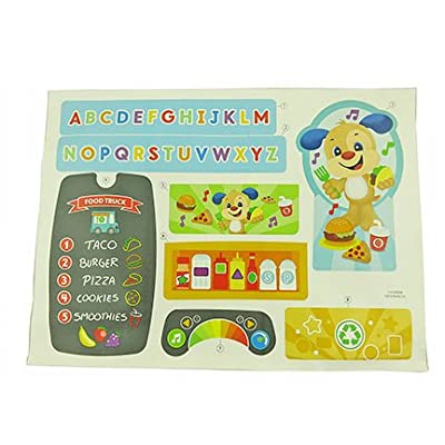 Replacement Stickers for Fisher-Price Food Truck - Laugh & Learn Servin' Up Fun Food Truck DYM74 ~ Replacement Labels for Playset: Toys & Games