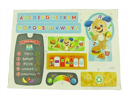 Fisher-Price Laugh & Learn Servin' Up Fun Food Truck - Replacement Label