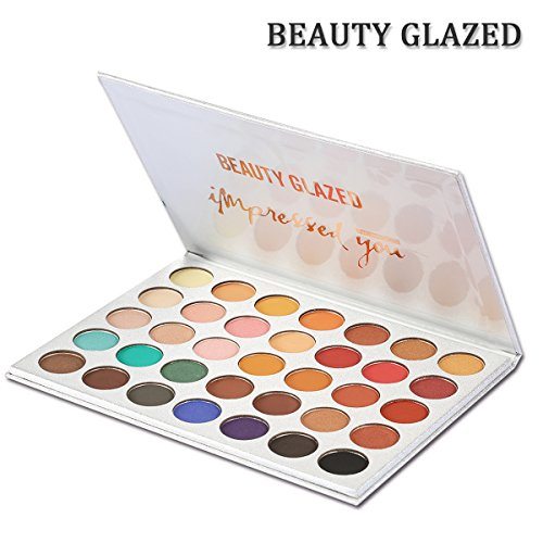 New Beauty Glazed 35 Color Eyeshadow Palette Makeup,Matte Ey
