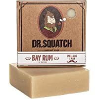 Bay Rum Soap by Dr. Squatch – Bar Soap for Men with Natural Scent, Bay Rum, Kaolin Clay, Shea Butter – Handmade with…