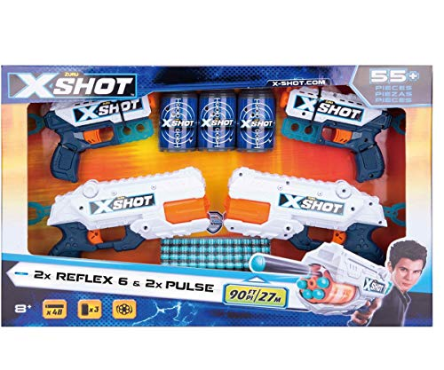 XShot 2 Reflex 6 Loads and 2 Pulse Kickback Recoil, Shot Target Upto 90 ()