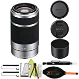 Sony E 55-210mm F4.5-6.3 OSS Lens for Sony E-Mount Cameras (Basic Accessory Kit, Silver)