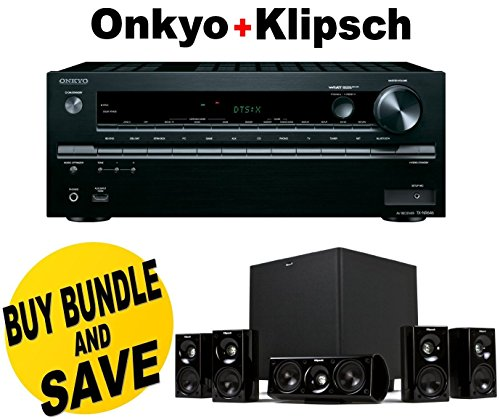 Onkyo TX-NR646 7.2-Channel Network A/V Receiver + Klipsch HDT-600 Home Theater System Bundle