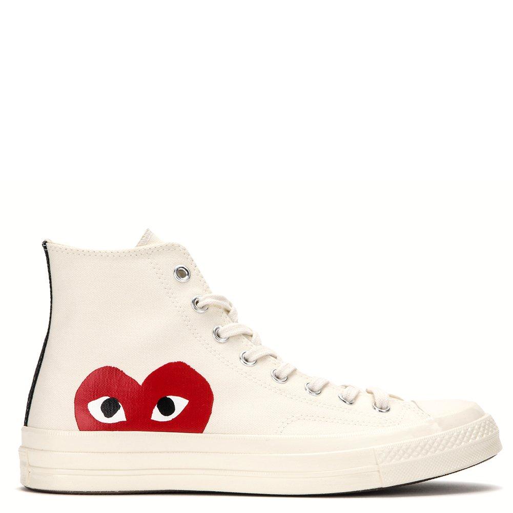 4a70562c3e1da Comme des Garcons Play Converse Chuck Taylor High Top Sneakers P1-K112 (US  11 D (Men)   13 B (Women)