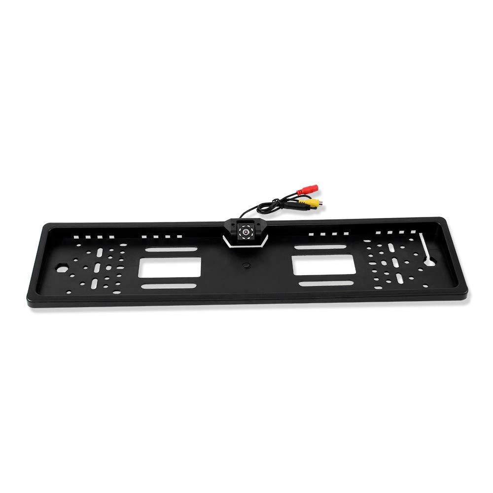 Telecamera retromarcia di backup per telecamere di serie CCD HD con porta targa europea e visione notturna a 12 LED