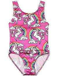 One Piece Swimsuits Teen Girl Unicorn Kid Beach Wear Cross Back Swimwear