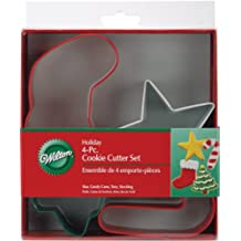 Wilton Jolly Shapes 4-Piece Color Metal Cookie Cutter Set