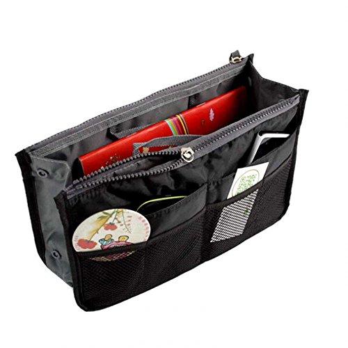 Coolcase Reise Organizer Kosmetiktasche Handtasche Organizer Tasche, schwarz (Schwarz) - YL1141I