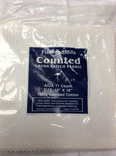 [해외]백작 아이다 화이트 크로스 스티치 원단 - 12 x 18/11 Count Aida White Cross Stitch Fabric - 12  x 18