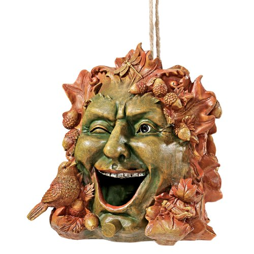 Design Toscano Laughing Greenman Birdhouse Statue