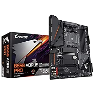 GIGABYTE B550 AORUS PRO Motherboard with True 12+2 Phases Digital VRM, Dual PCIe 4.0/3.0 x4 M.2 with Thermal Guards, 2.5GbE LAN, RGB Fusion 2.0