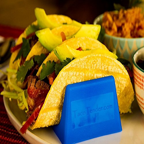 Taco Tender Holder - Plastic Stand Holds 3 Tacos - Set of 4