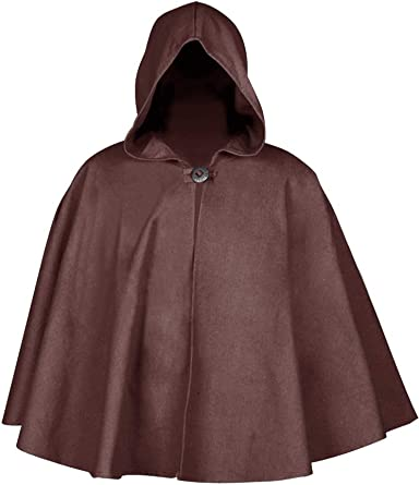 Medieval-Pagan-Gothic-Cosplay-Larp-FULL LENGTH BROWN HOODED CLOAK